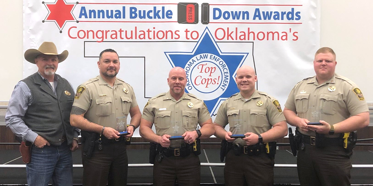 Canadian County Deputies recognized for their efforts at Buckle Down Awards